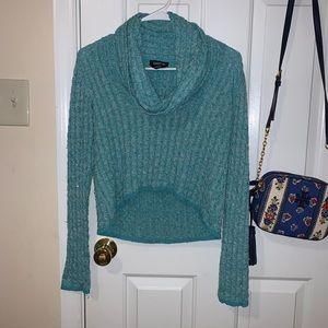 Bebe Sparkly Half Sweater